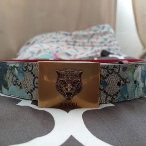 Gucci belt bloom tiger belt buckle